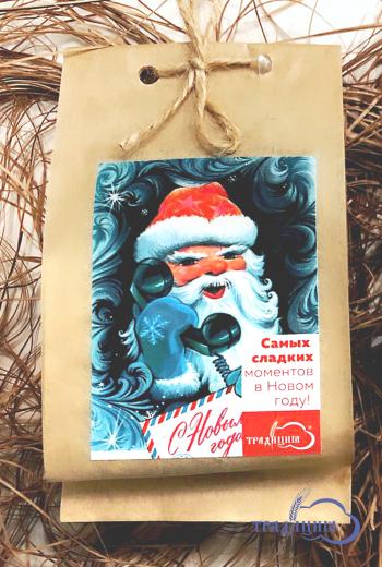 Мыло «Праздничный шоколад» с ароматом горячего орехового шоколада