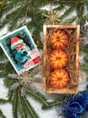 Подарочный набор №3 «Дольки мандарина в деревянном ящичке»
