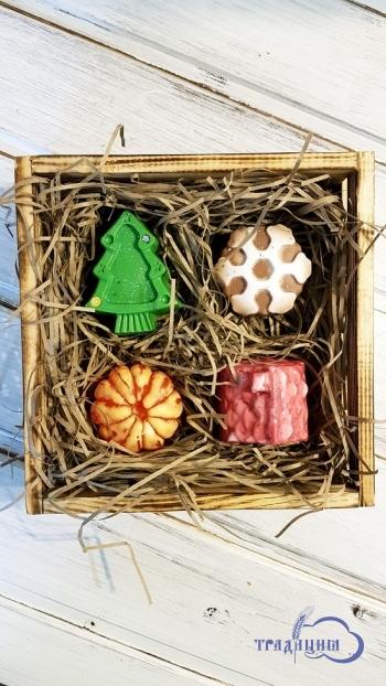 Подарочный набор №1 «Мандаринки в деревянном ящичке»