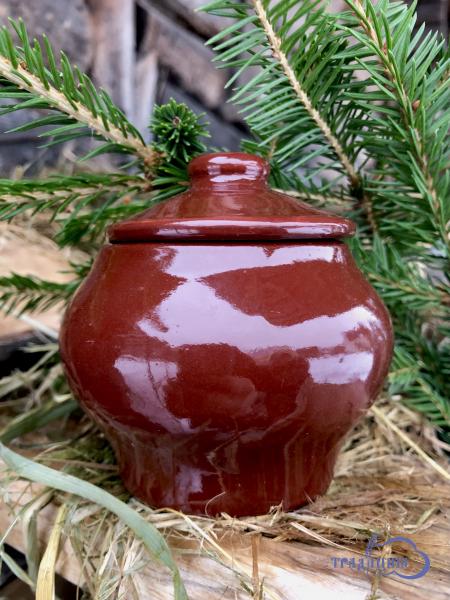 Четверговая черная соль « Монастырская» со сбором трав и рожью. В глиняной солонке.