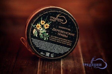 Густой шампунь для волос и тела «Деревенские травы»