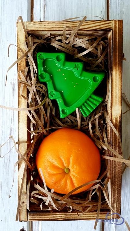 Подарочный набор №2 «Ёлочка и мандаринка в деревянном ящичке»