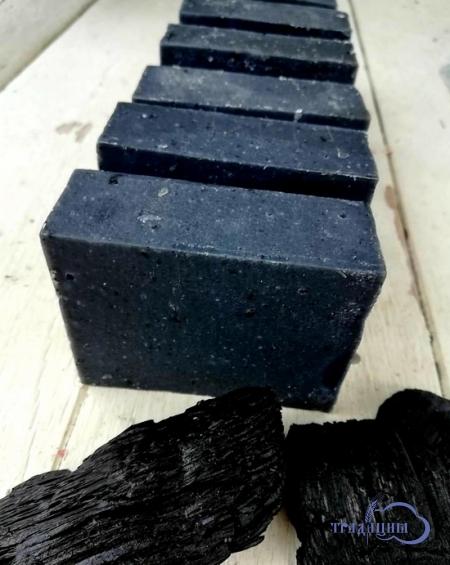Мыло «Березовый уголь и белая глина» (скраб)